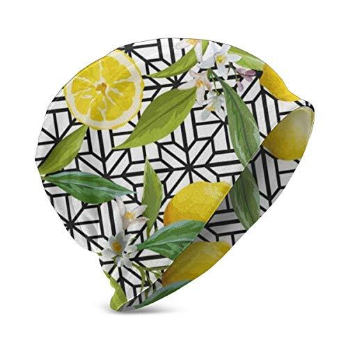 Hdadwy Floral Lemon Fruits Vintage Kid 's Winter Warm Knit Sombreros elásticos Soft Beanie Hat Skull Cap para niños niñas