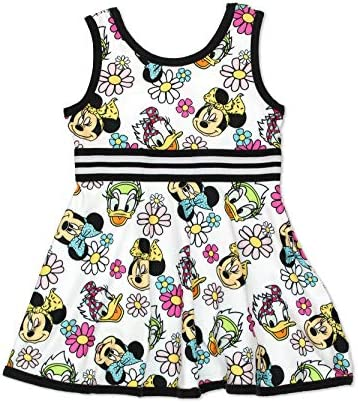 Minnie Mouse Daisy Duck Toddler Girls Fit and Flare Ultra Soft Dress 4T Minnie Multi product image
