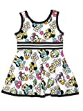 Minnie Mouse Daisy Duck Toddler Girls Fit and Flare Ultra Soft Dress (2T, Minnie Multi)