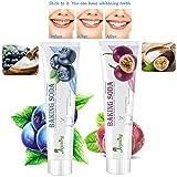 juman634 Pâte Dentifrice au Bicarbonate de soude et au Bicarbonate de soude Renforce Le Dentifrice décontaminant blanchissant Suppression de la saveur des Fruits