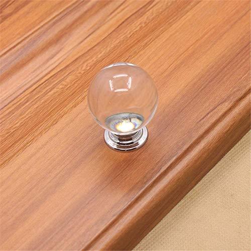 MLOZS Pack de 5 pomos transparentes para armario de cocina, cajones, aparador, aparador, aparador, etc. (color: transparente, tamaño: grande)