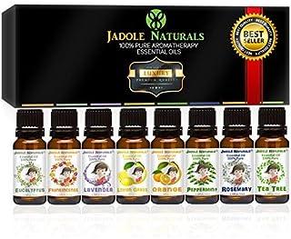 مجموعة من أفضل 8 زيوت عطرية بخاصية اطلاق الروائح العلاجية من جادول ناتشورالز، مجموعة زيوت نقية 100% بدرجة علاجية - مجموعة ...