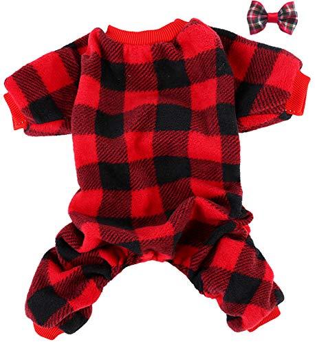 JPB Hunde-Pyjama mit Karomuster, L