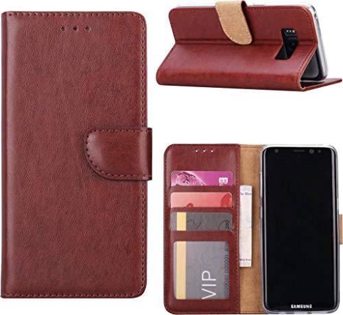 Samsung galaxy S8+ (Plus) Portemonnee/Booktype lederen hoesje Bruin