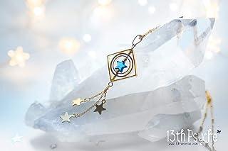 Collana con stelle cadenti, collana di galaxy, collana girevole, pendente rotante, collana con stella, gioielli spaziali, ...