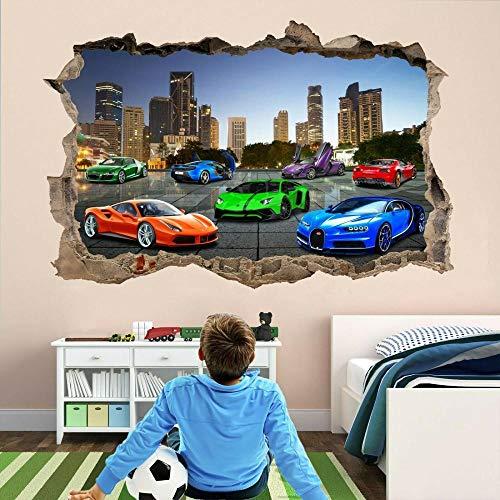 CSCH Wandtattoo Super Sports Cars Wandaufkleber Wandtattoo Aufkleber selbstklebende Druckkunst
