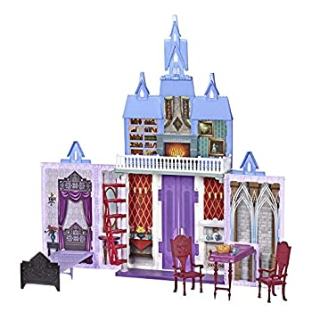 Disney Frozen Fold and Go Arendelle Castle Playset Inspired 2 Movie Portable Play - Toy for Kids Ages 3 and up