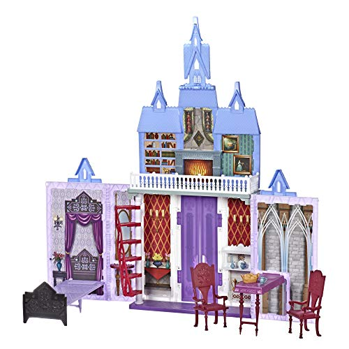 Disney FROZEN Fold and Go Arendelle Castle Playset Inspired By Disney's 2 Movie, Portable Play - Toy for Kids Ages 3 and up
