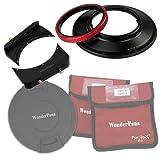WonderPana 66 FreeArc Kit - girevole 145 mm filtro di base, 16,76 cm filtro staffe e copriobiettivo per Canon 14 mm Super grandangolo EF F/2.8L II USM lenti (full cornice 35 mm)