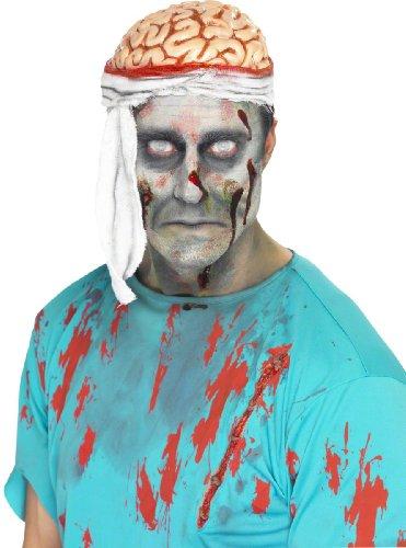 Generique - Halloween Mütze Gehirn mit Verband für Erwachsene