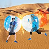 SUNSHINEMALL 1 PC Bumper Ball, Inflatable Body Bubble Ball Sumo Bumper Bopper Toys, Heavy Duty Durable PVC Vinyl Kids Adults Physical Outdoor Active Play (1pcs zjq Blue+Clean 48inch)