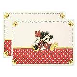 THUN ® - Set 2 tovagliette Minnie THUN Disney® - 100% Cotone - 50x35 cm