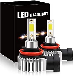 SAGESUNNY h11 led bulb fog light error-free canbus DC12V high power flip COB Chip 2000 lms h8 H9 H16 JP led bulbs universal Foglight White 6000K Replacement of stock halogen H11-1 Year Warranty