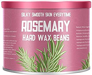 Rosemary Essential Oil Yeelen Essential Oil Hard Wax Beans Hair Removal Wax Beads with 10 Applicator Sticks for Facial Body Brazilian Bikini at Home Waxing