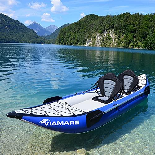 VIAMARE Sit on top Touren Kajak für 2 Personen 400 cm Kanu mit Hochdruck Luftboden