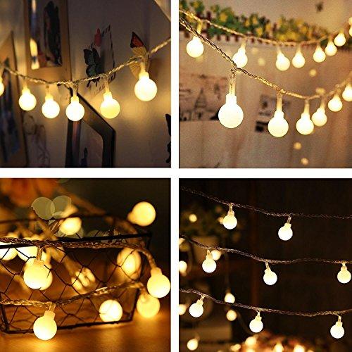 40 LED à piles à cordes 14 couleur chaude pour la fête de jardin et de décoration de vacances (blanc chaud)