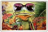 Blechschild Cocktail Frosch Frog Alkohol 20 x 30cm Reklame