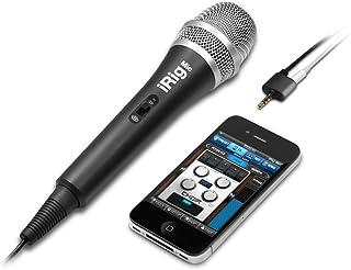 IK Multimedia iRig Mic Mobile Phone/Smartphone micrófono con Hilo Negro–Microphones (Mobile Phone/Smartphone micrófono, 120Db, 100–15000Hz, cardioide, 3%, con Alambre)