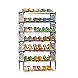 組み立て式 おしゃれ シューズラック 大容量 7段 衣類 靴 タオル 収納棚 軽量 省スペース 靴棚 (ホワイト)