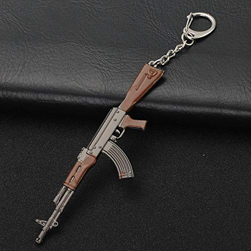 RWLOVE Creative Bullet Key Chain Retro Gold Premium Alloy Aircraft Knife Bag Pendant Car Keychain Men Key Ring Best Gifts AK Automatic Rifle