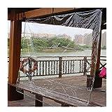 GUOWEI Lona Impermeable Transparente, Carpas De Invernadero, Cobertura Vegetal De Protección Solar A Prueba De Lluvia De PVC Engrosado, 0,3 Mm 400g/M² (Color : Claro, Size : 3.5x5m)