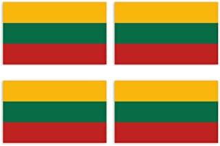 KIWISTAR Aufkleber 4,5 x 2,7 cm Litauen   Land Staat Autoaufkleber Flagge Länder Wappen Fahne Sticker Kennzeichen