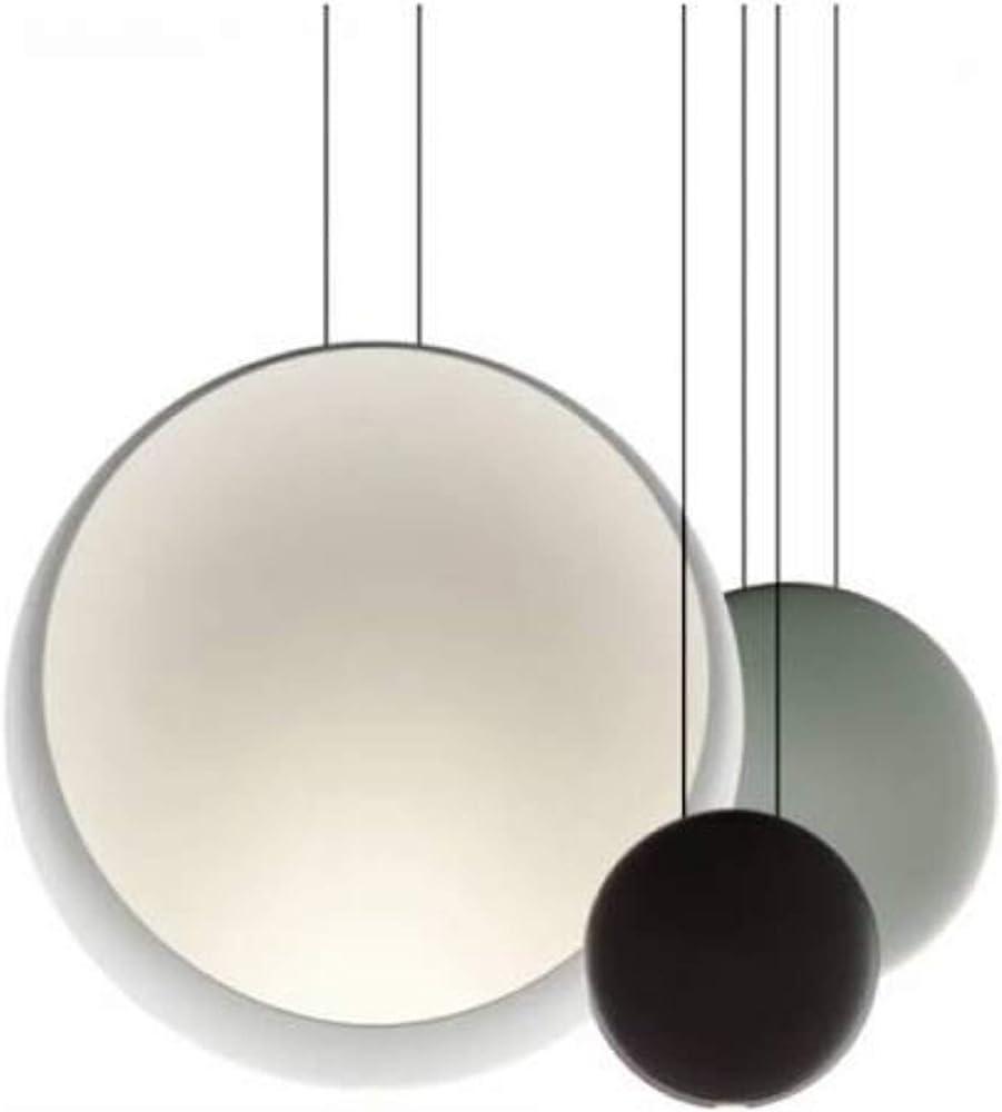 Vibia,lampada a sospensione 3 pezzi 3 led 4 48w 350ma con diffusore in metacrilato serie cosmos 251162/1A