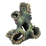 FiedFikt - Figura Decorativa de Resina para Acuario, diseño de Paisaje Artificial