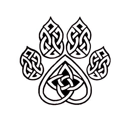 Celtic Knot Wolf Paw Decal, Celtic Knot Sticker, Eternity Knot Vinyl Decal