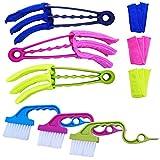 YuCool, confezione da 9 strumenti per la pulizia delle persiane, 3 spazzole per spolverare con 3 manicotti rimovibili in microfibra e 3 spazzole per la pulizia di persiane, tapparelle e condizionatori