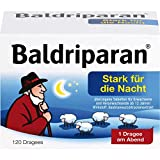 Baldriparan Stark für die Nacht, Pflanzliches Arzneimittel mit hochdosiertem Baldrianwurzel-Trockenextrakt, Bewährte Dragees bei nervös bedingten Schlafstörungen, 120 St.