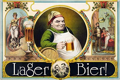 FS lager bier blikken bord gebogen metalen sign 20 x 30 cm