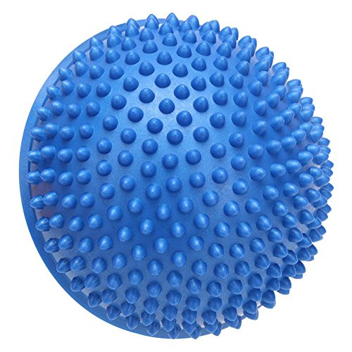 MKChung Half-Circle Massage Yoga Ball, Body Balance Trainer Durian Ball(Blue)