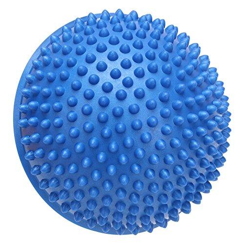 MKChung Half-Circle Massage Yoga Ball, Body Balance Trainer Durian Ball(Blue)