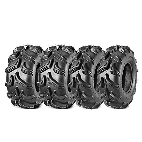 Maxauto ATV Tires 28x9-12 28x11-12 28x9x12 Front & 28x11x12 Rear Mud Sand Trail ATV UTV Off-Road Tires, 6PR, Tubeless (Set of 4)
