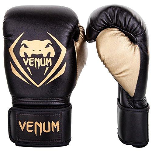 Venum Contender Boxing Gloves - Black/Gold - 14-Ounce