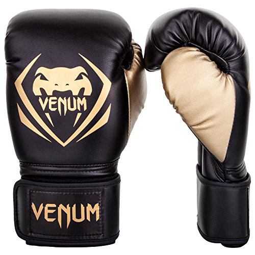 Venum Contender Boxing Gloves  Black/Gold  10Ounce