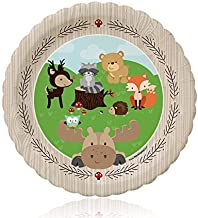 Big Dot of Happiness Woodland Creatures - Baby Shower or Birthday Dessert Plates (8 Count)