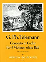 TELEMANN - Concierto en Sol Mayor (TWV:40/201) para 4 Violines (Morgan)