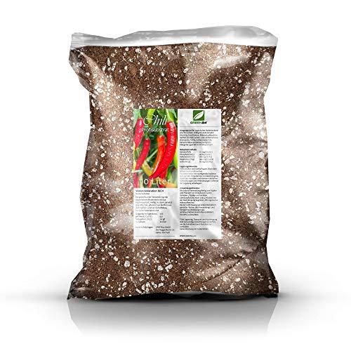 GREEN24 Chilierde Paprikaerde Spezial Capsicum Erde - 10 Liter Profi Linie Substrat auch geeignet für Tomaten und Gemüse