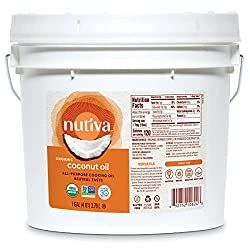 top 10 organic coconut oil Nutiva Bio, steamed coconut oil made from GM-free green coconut, 128 fl ounces …