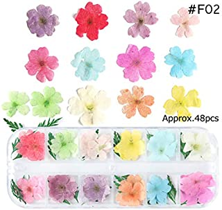 Dried Flowers Leaf Nail Decoration Natural Floral Sticker 3D Dry Beauty Nail Art Decals Jewelry UV Gel Polish Manicure