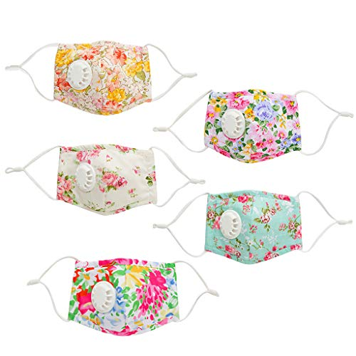 Learn More About 【8-12 Days Delivery】 Insertable Filter Face Bandanas for Kids - 5 Pack Tropical...