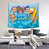 Qualet Bubble Guppy Tapestry Wall Hanging for Bedroom Living Room Dorm Home Decor 60x51 Inch