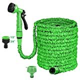 ZOJI 100FT Expanding Garden Hose, 30m Expandable Flexible HosePipes with 7 Function Spray