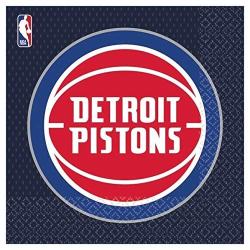 NBA Detroit Pistons- Tovagliolo 33 x 33 cm (Totale Pezzi: 16), Multicolore, 7AM5136141