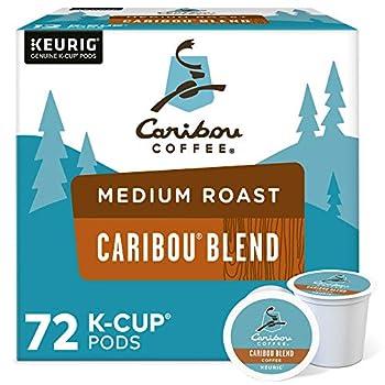 Caribou Coffee Caribou Blend Single-Serve Keurig K-Cup Pods Medium Roast Coffee 72 Count