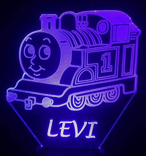 3D Nachtlicht 3D Glühbirne Tank Engine Thomas und Freunde Cartoon Dekoration Licht Raumdekoration Baby Nachtlicht Schlafzimmer Nacht Kinder 3D LED Nachtlicht