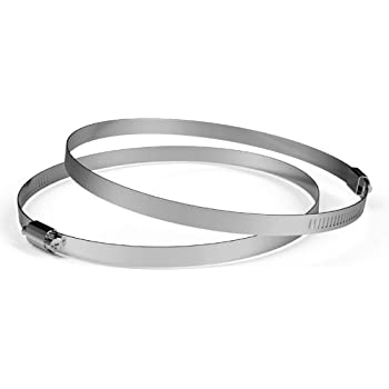 4 Pack 6 inch 304 Stainless Steel Duct Clamps by DocBrother