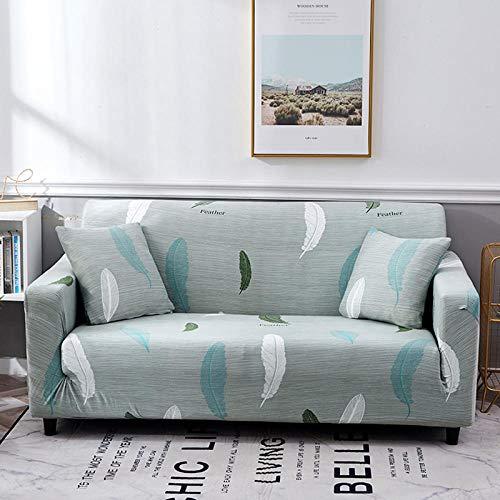NLADTWLSD Funda de sofá de Alta Elasticidad, impresión Fundas para Sofa Antideslizante Cubierta para Sofa Protector para Sofás Lavable para el Salón (2 Asiento,Blanquecino)
